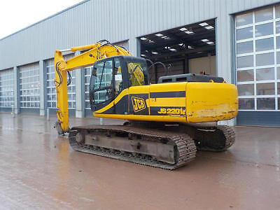 JCB JS220LC, digger excavator piped,  £15250