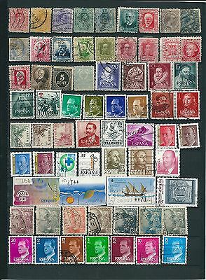 ESPAGNE / SPAIN 92 STAMPS OBL/USED 2 scans