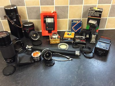 Job lot of untested photography items.