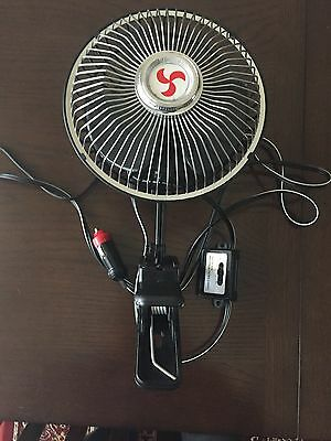 12 Volt Oscillating Fan Approx 18 Cm With Clip