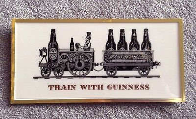 Train With Guinness Plastic Advertising Sign Display Stand And Hanging
