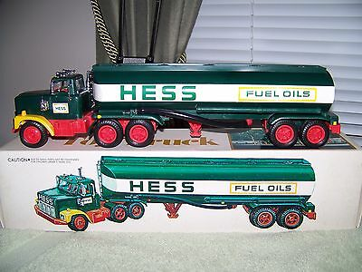 """1977 HESS Fuel Oil Tanker Truck (1"""" decal on back) MINT CONDITION!!"""