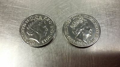 Silver 2 Pence Coins x2 - Not Coloured its original colour as it is Guaranteed: