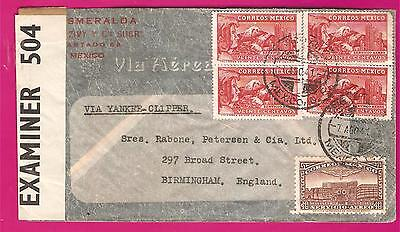 MEXICO   1940 S  Airmail cover     CENSORED  .....4