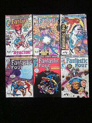 Fantastic Four Marvel Bronze Age Comics Bundle #250 to #297 not ful run 29 books
