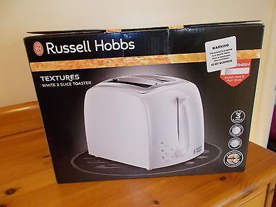 Brand New Russell Hobbs Textures Wide Slot 2 Slice Toaster.