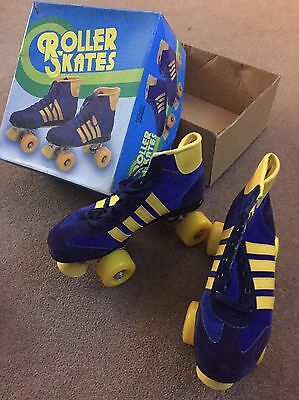Retro Roller Skates Boots Size 5 Blue/yellow Brand new