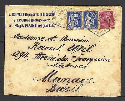 1940 France Cover To Brazil