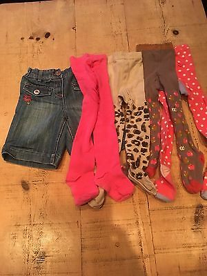 Next Girls Denim Shorts With Tights Age 3-4 Years
