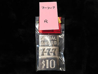 Mills Repro Special 777 $10 Award Hi Top Plate For A Mills Antq Slot Machine #r
