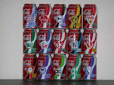 Coca Cola Bundesliga can set of 15 from Germany 2002