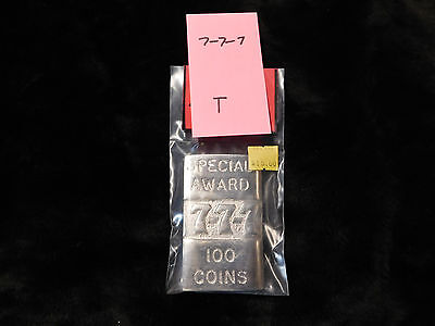 Mills Repro Special 777 100 Coins Award Hi Top Plate Mills Antq Slot Machine #t