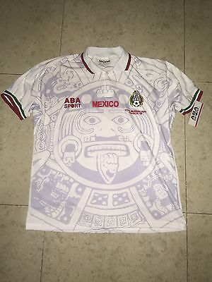 Mexico Aba Sport France 98 Away Jersey XL