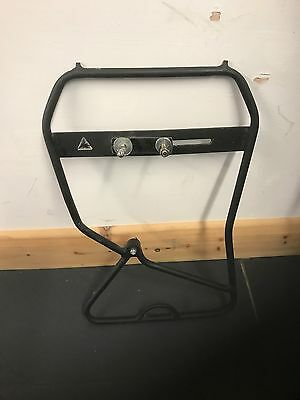 Front Pannier Rack Low rider For Suspension and Disc In Black