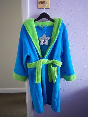 Minikidz Boy's Monster Turquoise & Green Robe With Hood Age 4-5 Years  Bnwt