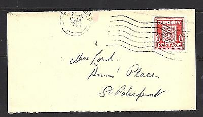 1944 Guernsey 1d Red Front To St Peter Port