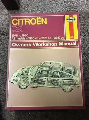 Haynes Citroen CX Repair Manual