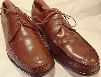 "Superb ""grensons"" Handmade Calf Leather ""true Moccasins"" Lace Up Size 8.5"