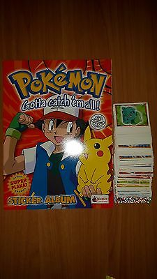 Pokemon - Empty Album + Uncomplete Set Of Stickers Merlin Edition 250/276