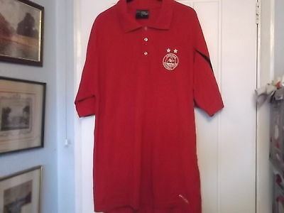 Aberdeen Football Club Polo Shirt Xl Size Avec Make