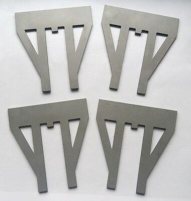 Set of 4 Laser-cut W Irons for 7.25 gauge railway wagons