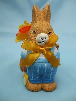 Collectable Easter Bunny Rabbit Ornament with a Basket of Daffs