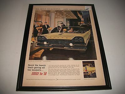 """1958 Dodge Print Ad. Art Collectible. """"big, Bold, Beautiful-And Low Priced Too!"""""""