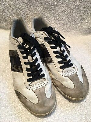 Diesel 93243 Mens Sneakers White Leather Casual Shoes Size 9.5 M