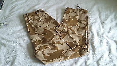 British Army Issue Desert Pattern Windproof Combat Trousers 82/88/104