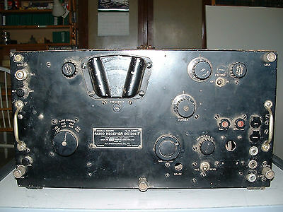 BC-314-F RADIO RECEIVER  WW-II RADIO RECEIVER  WORKS   Made by RCA 1942 contract