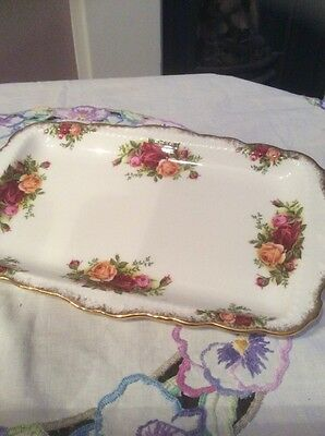 royal albert old country roses oblong sandwich tray