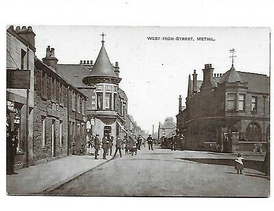 METHIL West High Street Shops Early RP Fife Postcard Philco Germany Produced