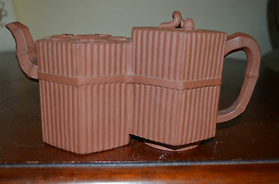 Chinese Yixing double teapot with marked 19th century