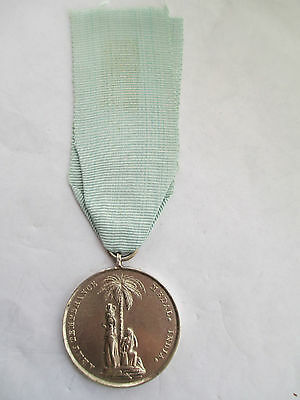 Silver Army Temperance Association Medal India. 1897. Watch and be Sober.