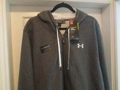 "Mens Under Armour Storm Hoodie Ex Ex Large 48""/50"" Chest, GreY, Full Zip Front,"