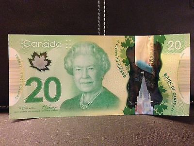 Canadian $20 Dollar 2012 Bank note polymer bill FSP1519554 barely circulated