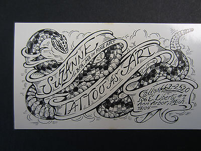 Vintage Tattoo Business Card  Suzanne Fauzer