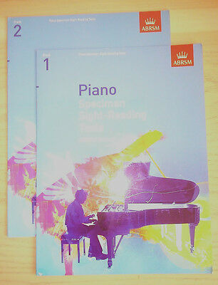 ABRSM Grade 1 and Grade 2: Piano Specimen Sight-Reading Tests - 2 books