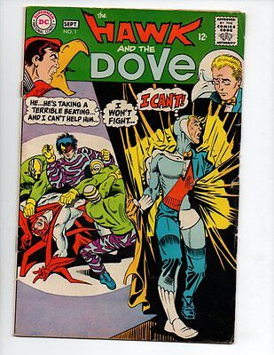 """The Hawk and the Dove #1 (1968, DC) G/VG 3.0 """"DITKO-C/A"""""""