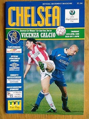 Chelsea v Vicenza 1997/98 European Cup Winners Cup SF programme