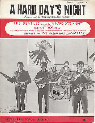 A Hard Day's Night - The Beatles - 1964 Sheet Music
