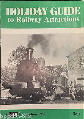 Holiday Guide to Railway Attractions 1986 Trains