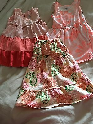 Lot Of 3 Toddler Girl Dresses Size 18-24Months