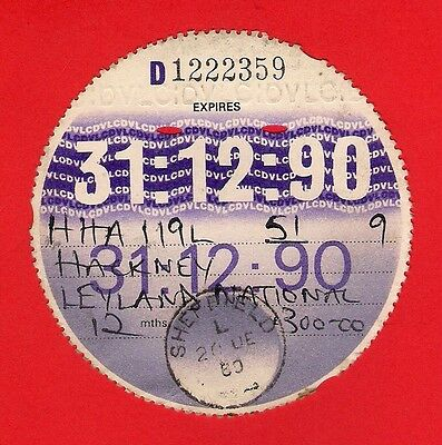 Bus Tax Disc 1990 - Yorkshire Terrier 16: HHA119L - Midland Red Leyland National