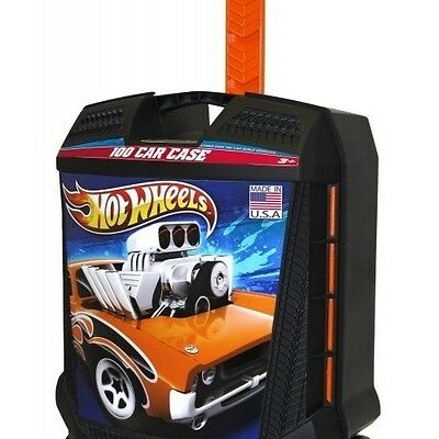 Hot Wheels Carry Case 100 Car Storage Organize Travel Wheels Telescoping Handle