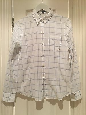 Theory White Check Shirt - Size S
