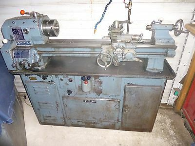 BOXFORD AUD LONGBED METAL LATHE With Original Cabinet