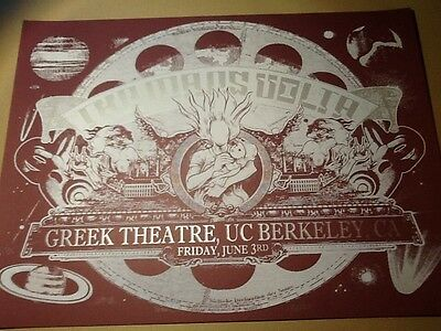 Mars Volta poster Jermaine Rogers Berkeley CAL 05 red silver variant of only 12