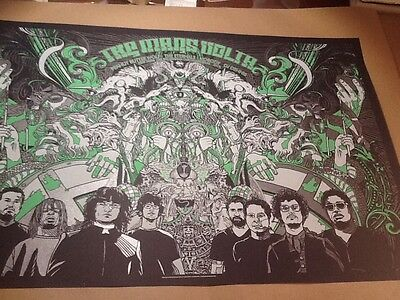 Mars Volta poster Tyler Stout Jared Connor SF 07 BGP at the drive inn signed!