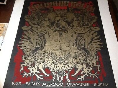 Mars Volta poster Connor Jermaine Rogers Milwaukee 06 Near Mint at the drive in
